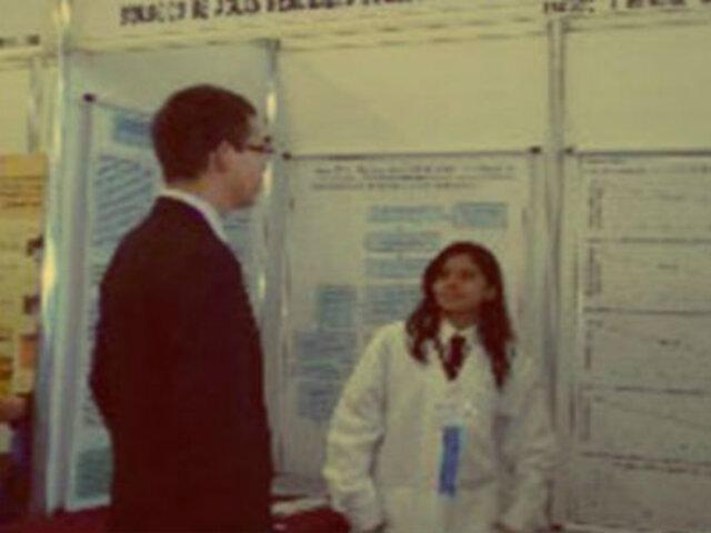 Escolar peruana gana medalla de oro en Feria de Ciencias en México