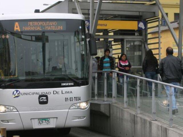 Mejorarán accesos a estaciones del Metropolitano que colapsan en horas punta