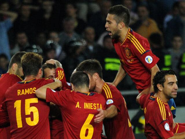 Bloque Deportivo: España derrotó 2-0 a Georgia y clasificó a Brasil 2014
