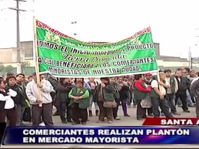 Comerciantes de Santa Anita realizan plantón pidiendo el cierre de La Parada