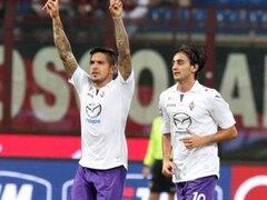 Bloque Deportivo: Fiorentina venció 2-0 al Milan con gol de Vargas