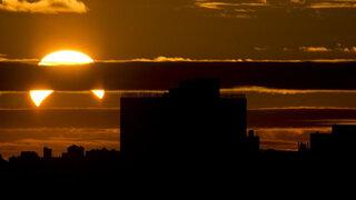 FOTOS: África, América y Europa deslumbrados por extraño eclipse solar