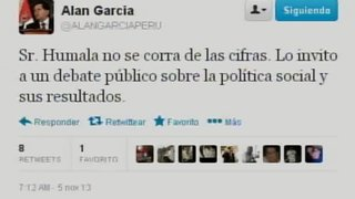 Alan García retó a un debate público a Ollanta Humala sobre política social