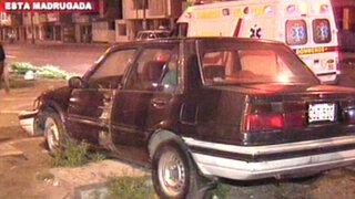 Los Olivos: policía en aparente estado de ebriedad ocasionó accidente vehicular