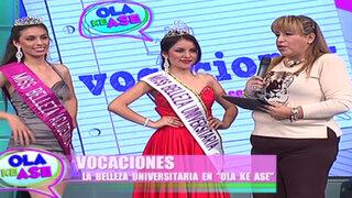 Segmento 'Vocaciones' presenta a las ganadoras del Miss Belleza Universitaria