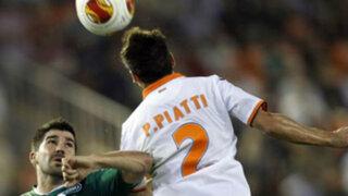 Valencia volteó el partido en la recta final y ganó 3-2 al Saint Gallen suizo