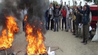 Azucareros de Pucalá saquean y queman local del Juzgado de Paz Letrado
