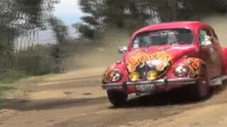 """Más de 60 Volkswagen participaron del rally """"Carrera de Sapos"""" en Huancayo"""