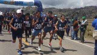 Paulino Canchanya e Inés Melchor se impusieron en maratón Meseta del Bombón