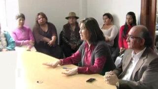 Congresista Martha Chávez se reunió con víctimas del terrorismo