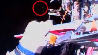 VIDEO: Ovni 'acompañó' recorrido de antorcha olímpica por el espacio