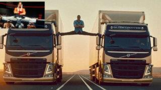 VIDEO: Jean-Claude Van Damme realizó legendario 'split' sobre pesados tráilers