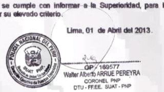 Documento probaría que Humala sabía del resguardo a casa de López Meneses