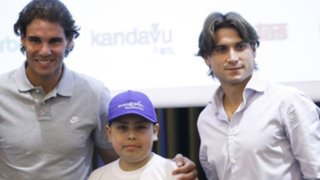 Niño con leucemia cumplió sueño de conocer a Rafael Nadal