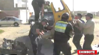 Desarticulan banda dedicada a desmantelar taxis en Chimbote