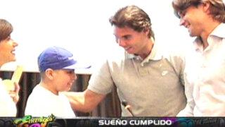 Niño peruano con leucemia cumplió sueño de conocer al gran Rafael Nadal