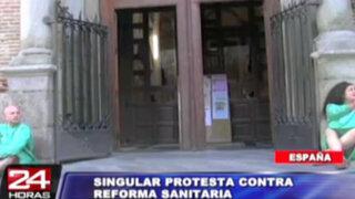 España: 'pacientes mendigos' protestan contra reforma sanitaria