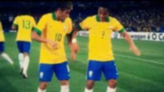 VIDEO: el nuevo baile que Neymar intenta poner de moda y estrenó frente a Chile