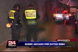 Hombre de 60 años muere arrollado por evitar ser asaltado en Huachipa