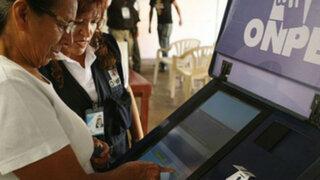 ONPE: los resultados al 100% en siete distritos con el voto electrónico