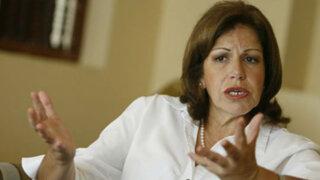 Lourdes Flores se mostró de acuerdo con el aumento salarial a ministros