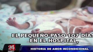 Video de bebé prematuro de 700 gramos se vuelve viral en redes sociales