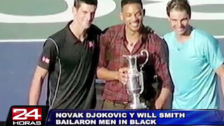 Argentina: tenista Novak Djokovic hizo bailar 'Men in Black' a Will Smith