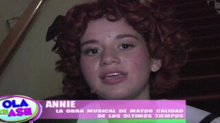 VIDEO: mira el divertido backstage de la obra de teatro 'Annie, el musical'