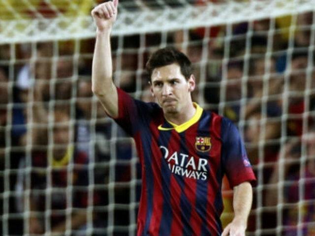 Prensa española a los pies de Messi tras su doblete ante Milan