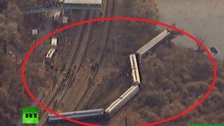 Tragedia en EEUU: descarrilamiento de tren deja 4 muertos y 67 heridos