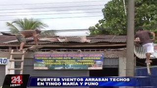 Fuertes vientos en el interior del país dejan un muerto y cientos de casas destruidas