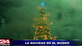 Brasil: encienden el árbol flotante de Navidad más alto del mundo