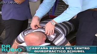 Cientos de personas asisten a campaña de salud de la columna vertebral