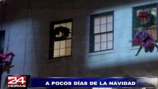 EEUU: proyectan espectacular show navideño en 3D sobre edificio en Nueva York