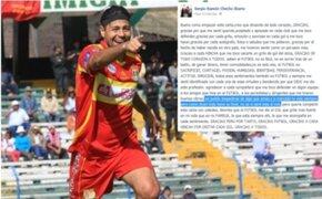 Checho Ibarra envió emotiva carta a sus hinchas ante posible retiro del fútbol