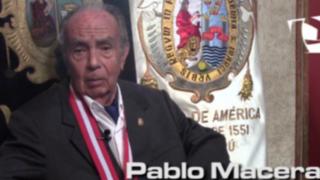 UNMSM brinda reconocimiento de Profesor Emérito a Pablo Macera