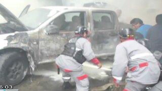 Al menos 5 vehículos resultaron dañados por incendio en taller de San Luis