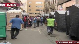 Damnificados del incendio en el Centro reciben ayuda del municipio de Lima