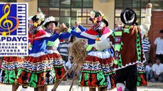 Apdayc apoyará difusión de la música y danzas folclóricas
