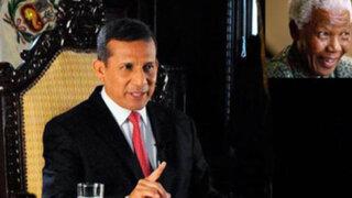 Humala pide a nuevas generaciones recoger legado de Nelson Mandela