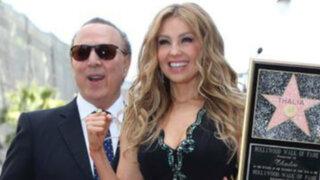 Cantante Thalía recibió estrella en el Paseo de la Fama de Hollywood