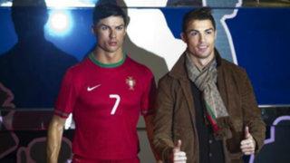 Cristiano Ronaldo quedó fascinado con su réplica de cera en Madrid