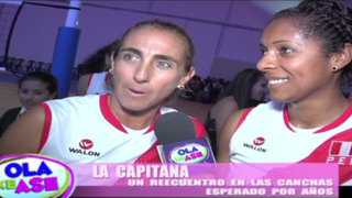 La Capitana: Leyla Chihuán volvió a las canchas de vóley junto a Natalia Málaga