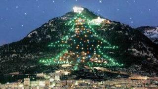 Italia: se encendió el árbol de Navidad más grande del mundo