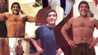 Diego Armando Maradona luce esbelta figura tras bajar 20 kilos