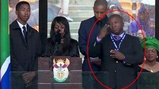VIDEO: descubren que intérprete del funeral de Mandela era falso e inventaba signos