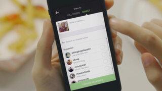 Instagram permitirá enviar fotos y video en mensajes privados