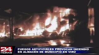 La Libertad: chispa provocó incendio en almacén de la municipalidad de Virú
