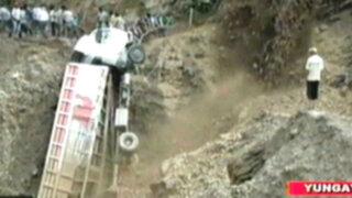 Huaraz: un muerto y 20 heridos dejó el despiste de un camión tras intensas lluvias