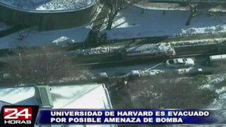 Evacúan cuatro edificios de la universidad de Harvard por posible atentado